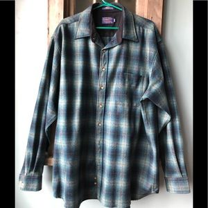 Pendleton Mens XXL Long 100% Wool Shirt